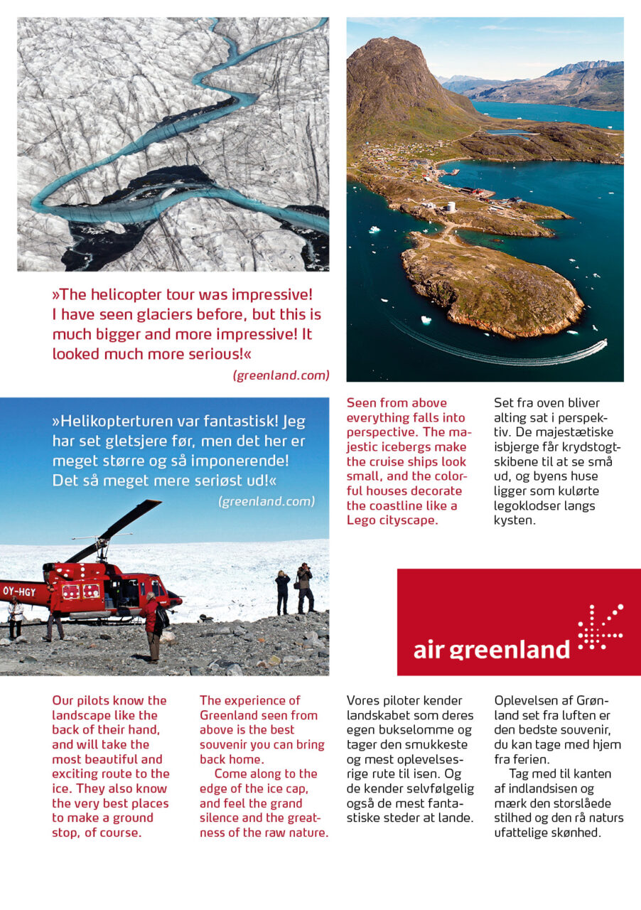 Air Greenland brochure