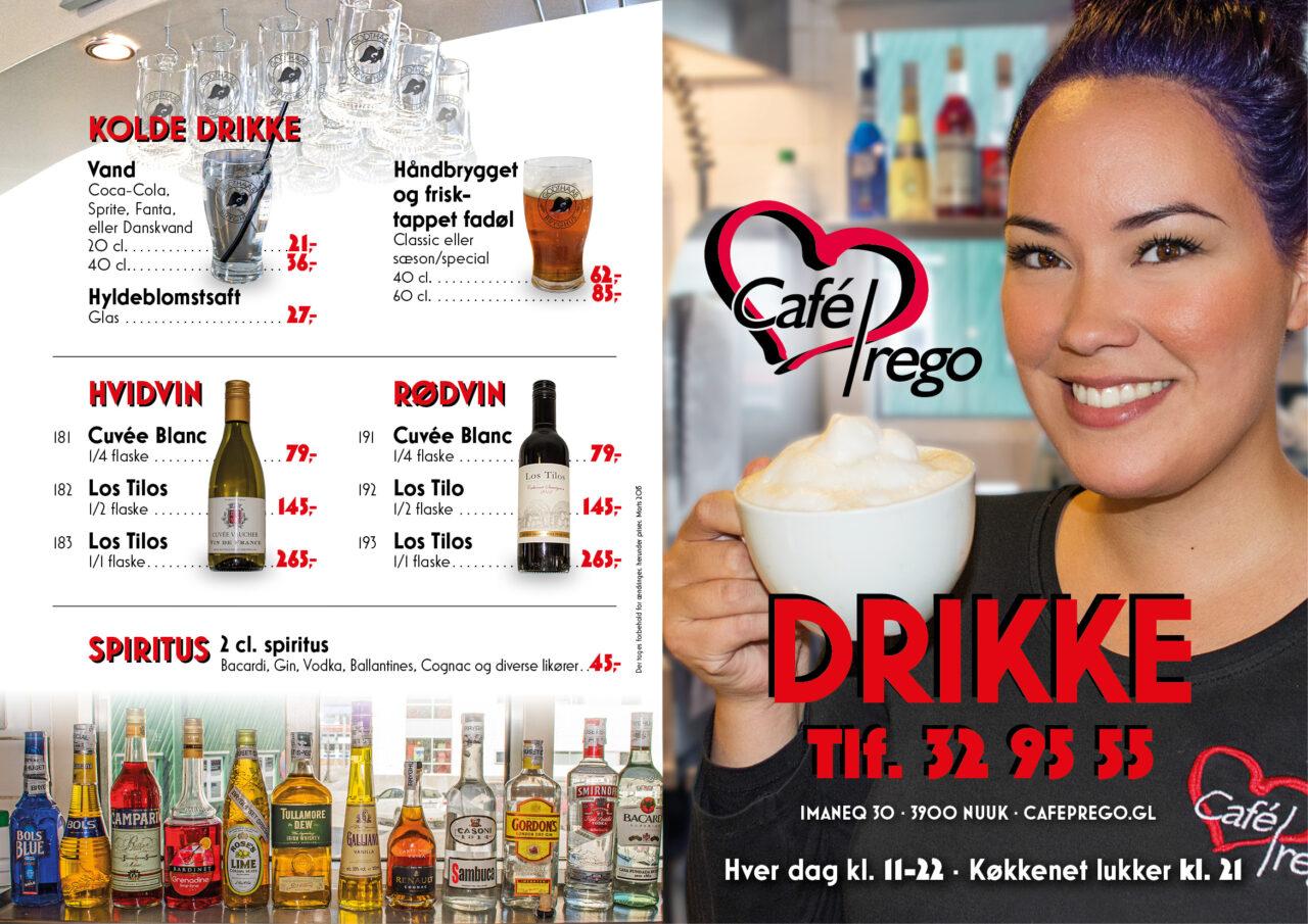 Café Prego menukort