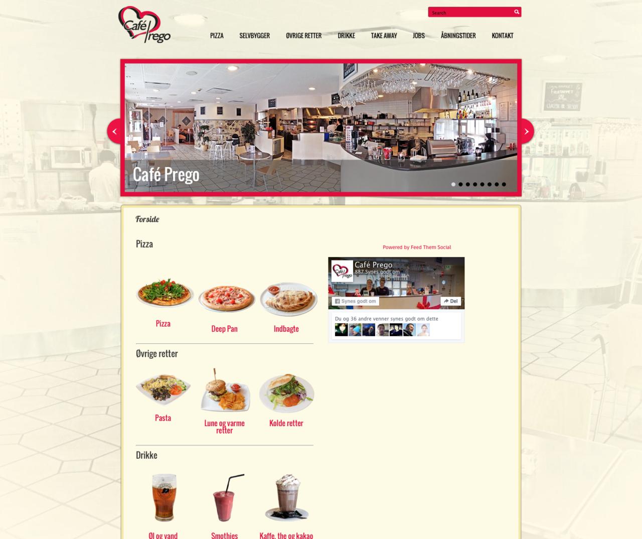 Café Prego webdesign
