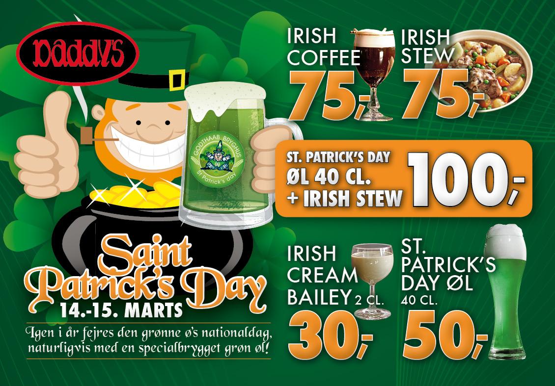 Daddys St Patricks Day bordrytter