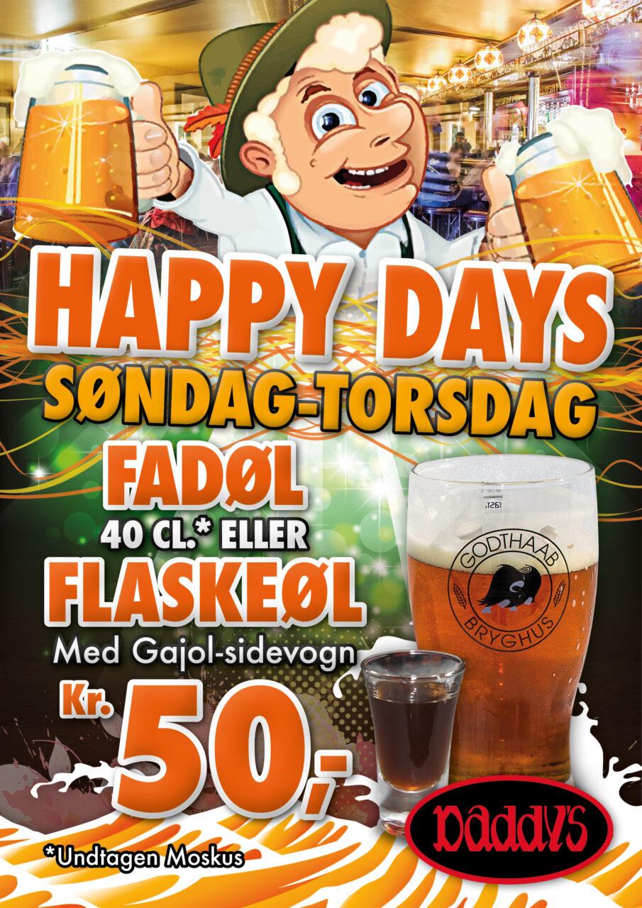 Daddys Happy Days plakat
