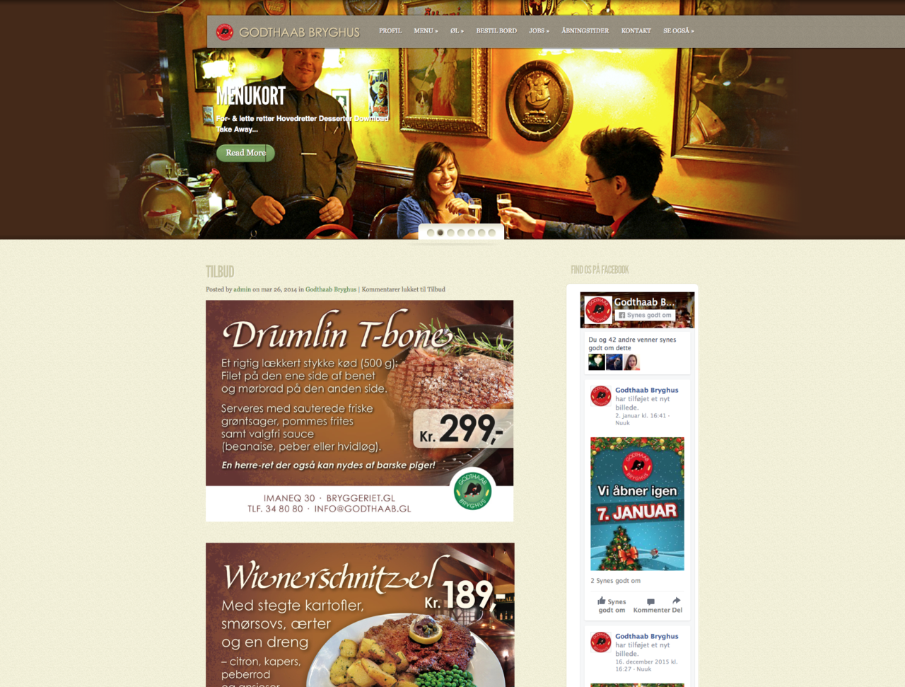 Godthaab Bryghus webdesign