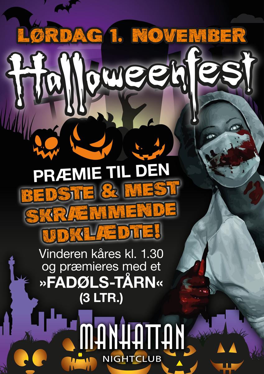 Manhattan Nightclub halloweenfest plakat