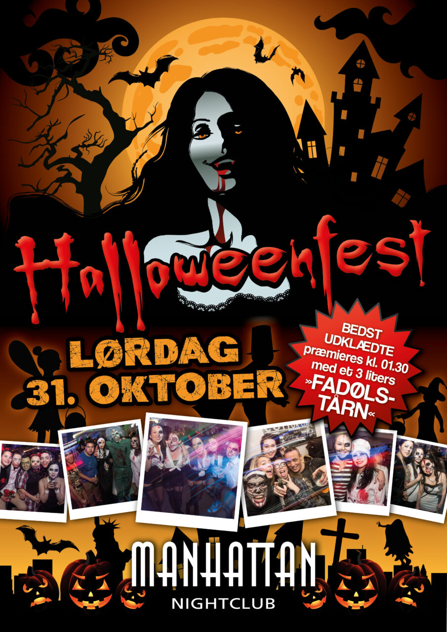 Manhattan Nightclub halloweenfest plakat
