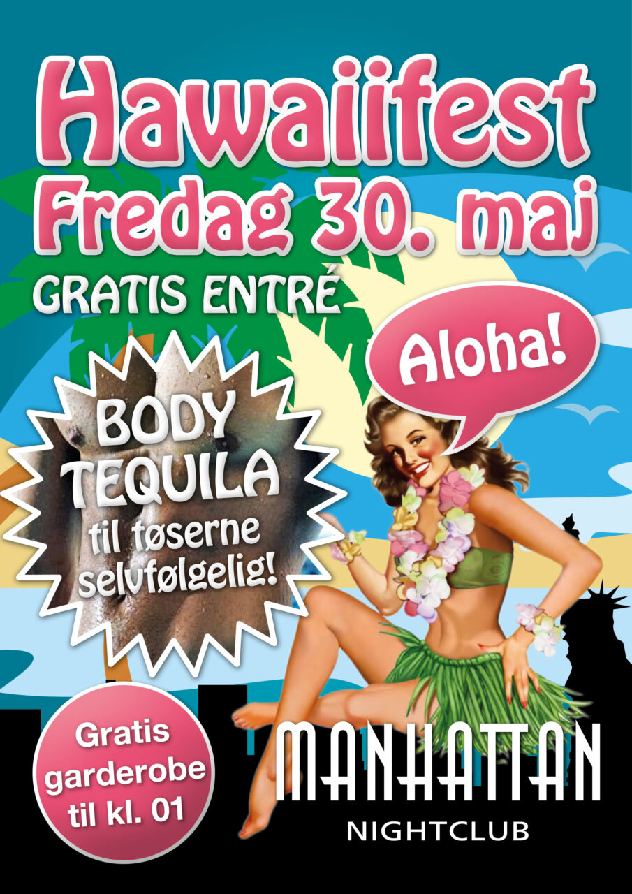 Manhattan Nightclub Hawaiifest plakat