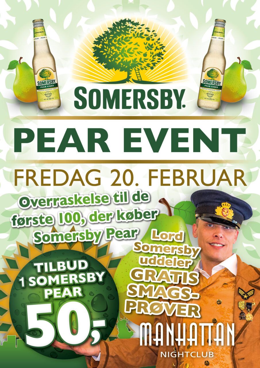 Manhattan Nightclub Somersby plakat