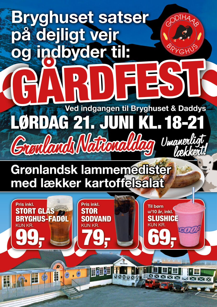 Nuuk Café nationaldag plakat