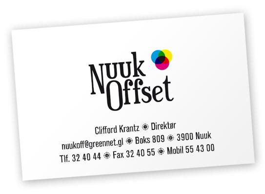 Nuuk Offset visitkort