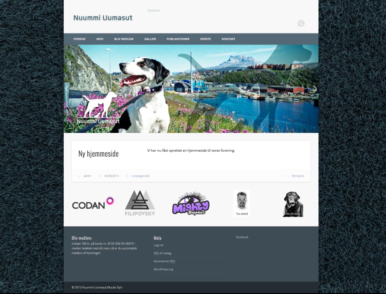 Nuummi Uumasut webdesign