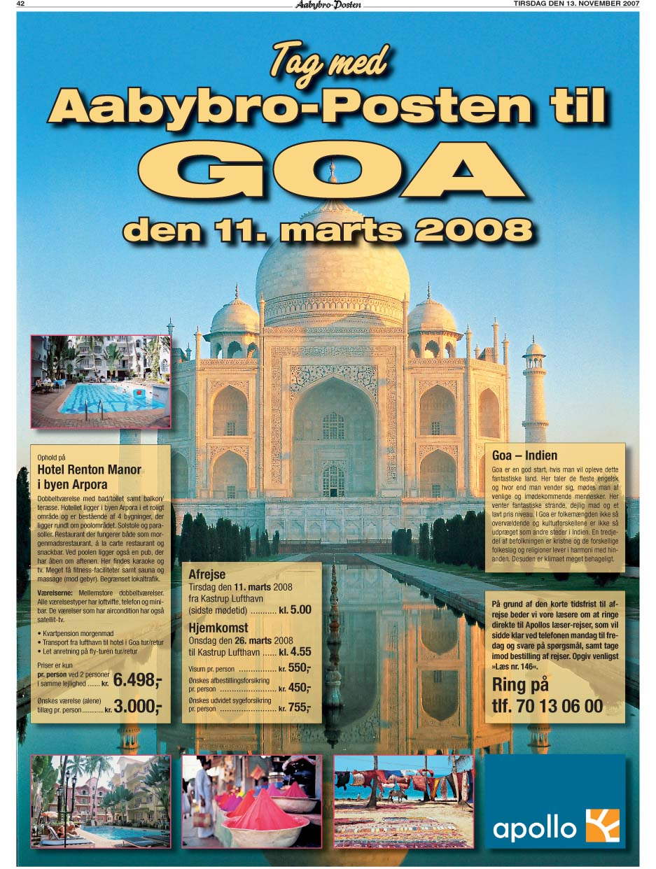 Aabybro-Posten annonce