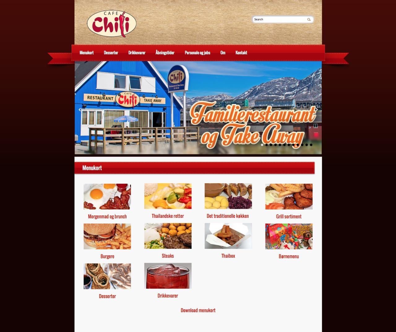 Café Chili webdesign