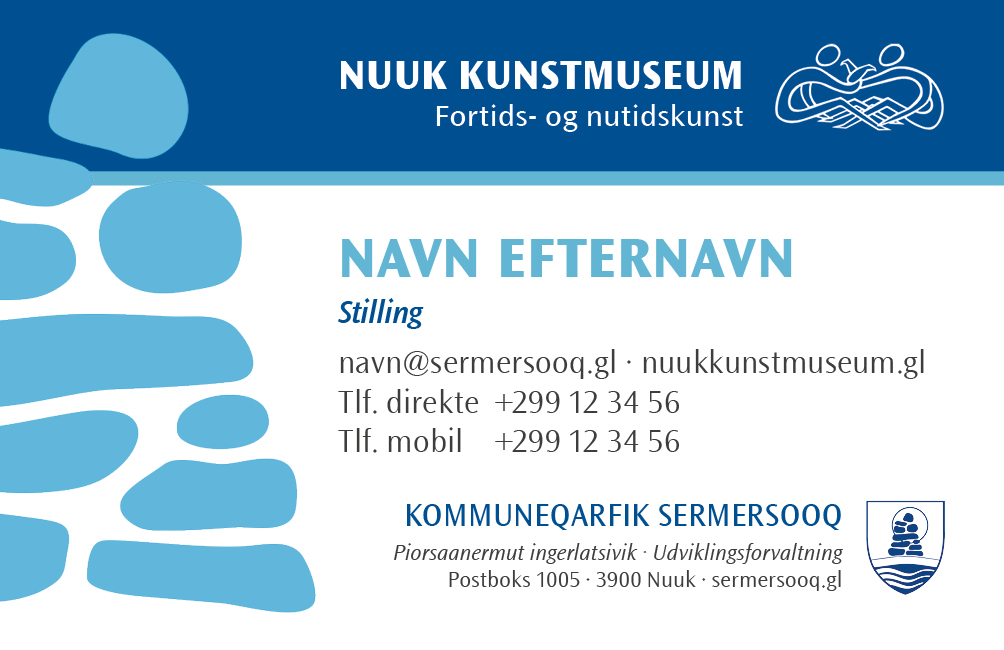 Nuuk Kunstmuseum visitkort