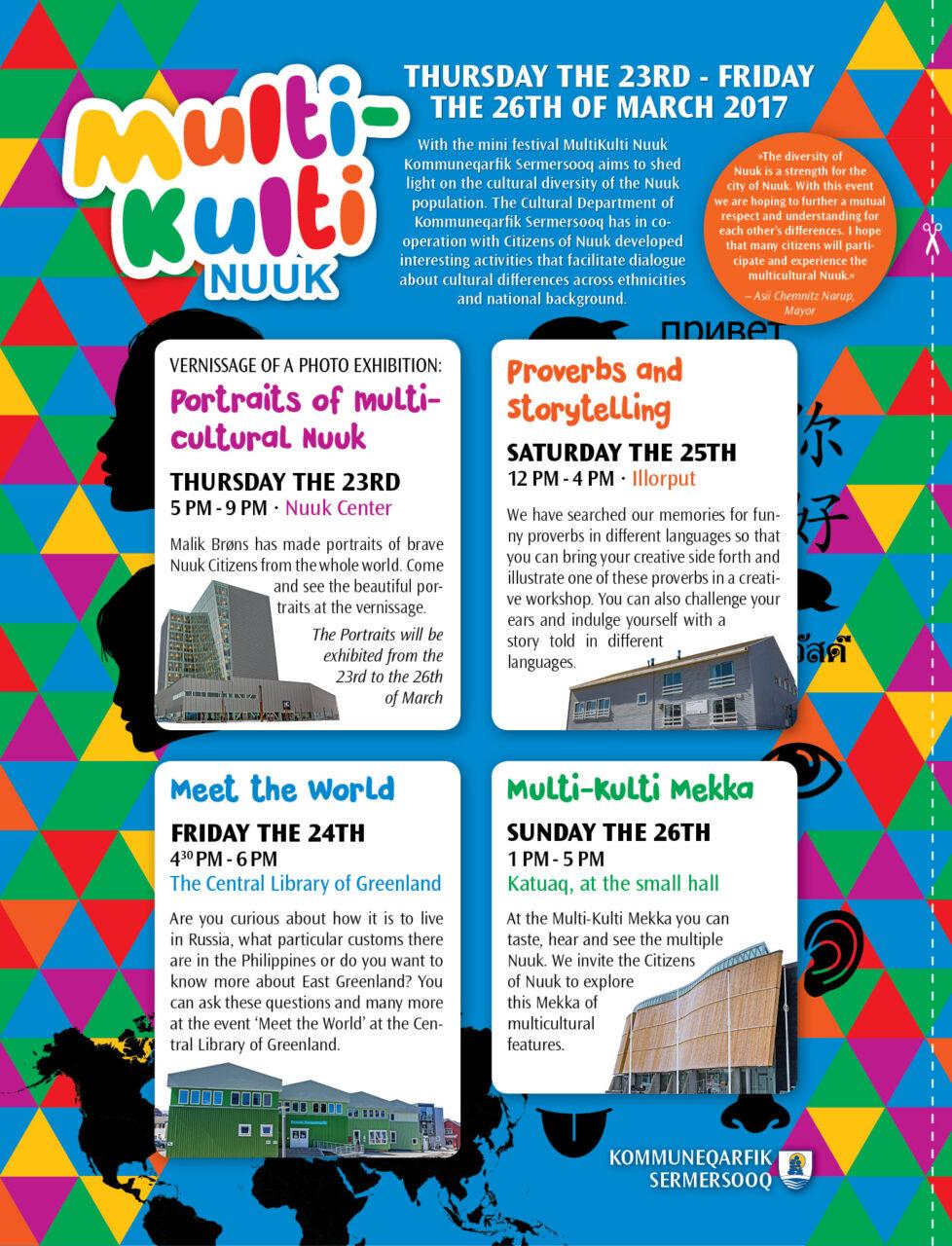Multi-Kulti Nuuk annonce og plakat