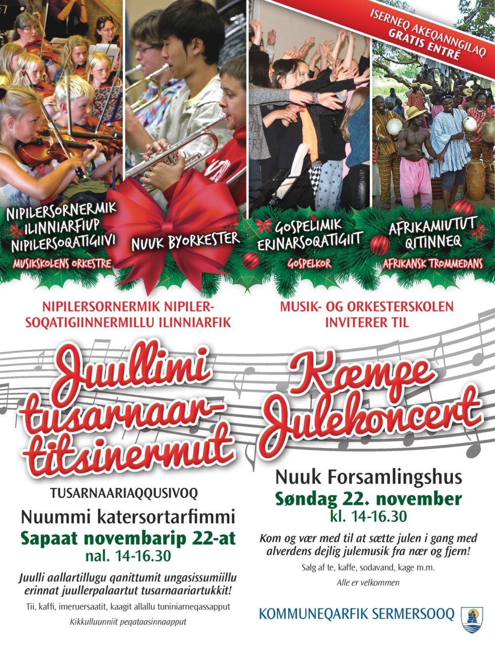 Sermersooq Musikskole annonce