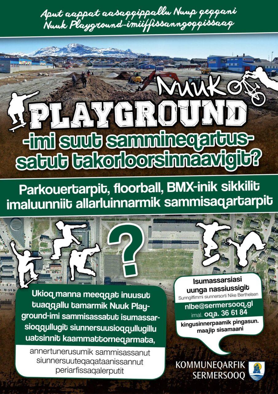 Sermersooq Nuuk Playground plakat