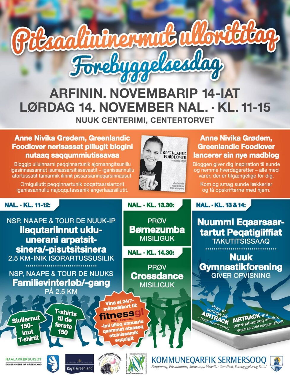 Sermersooq forebyggelsesdag plakat og annonce