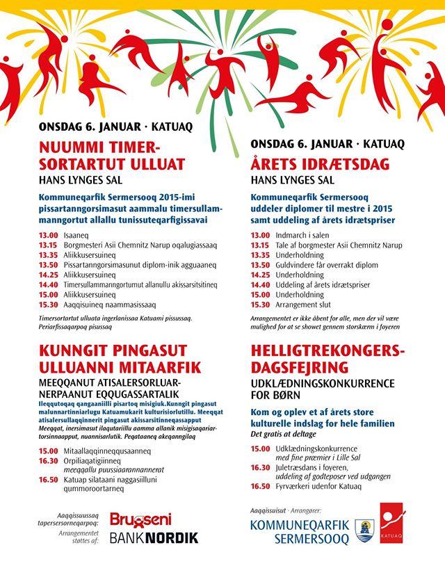 Sermersooq idrætsdag plakat og annonce