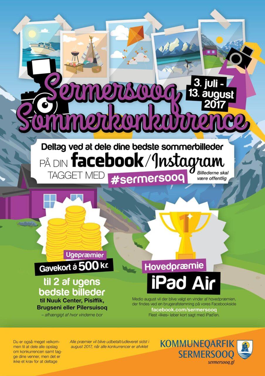 Sermersooq sommerkonkurrence plakat og annonce