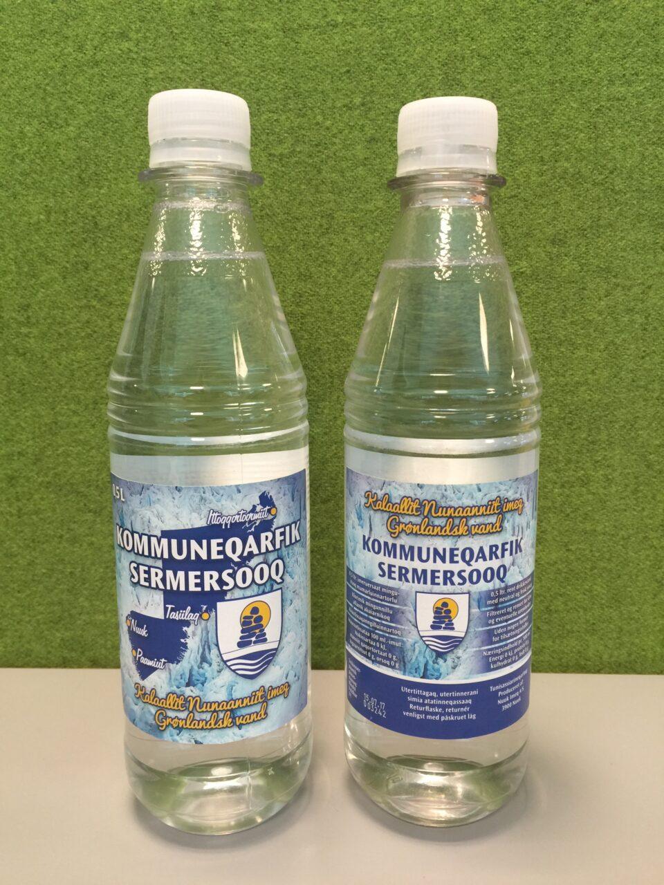 Sermersooq vandflaske etikette