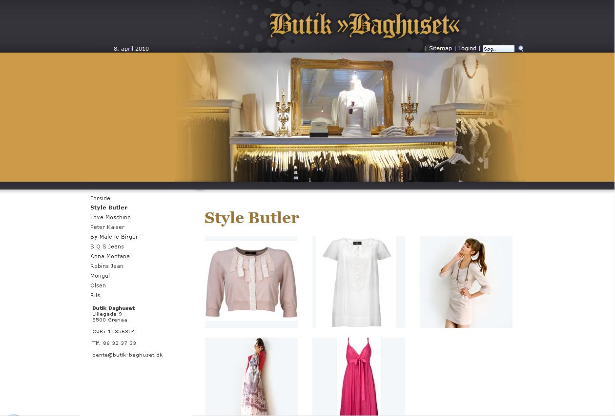 Baghuset webdesign