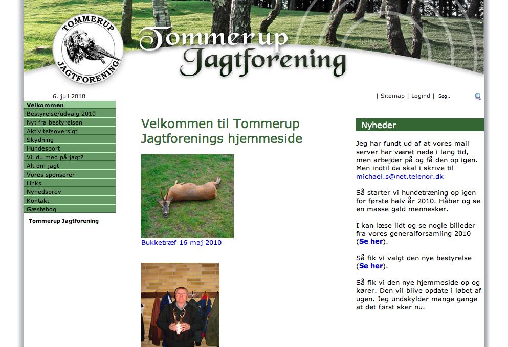Tommerup Jagtforening webdesign