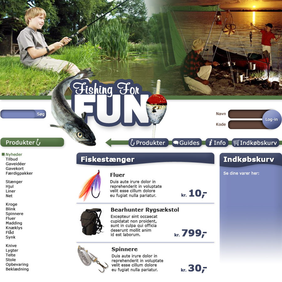 Fishing For Fun webdesign