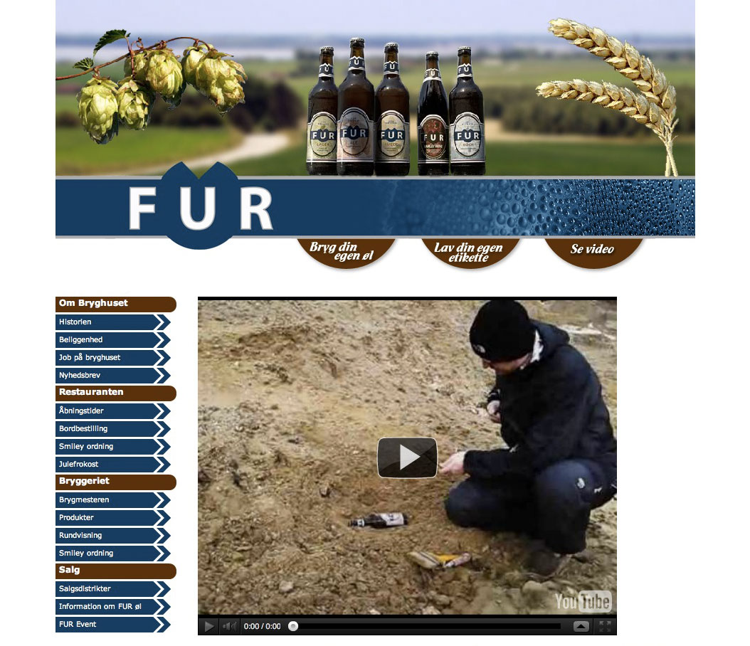 Fur Bryghus webdesign