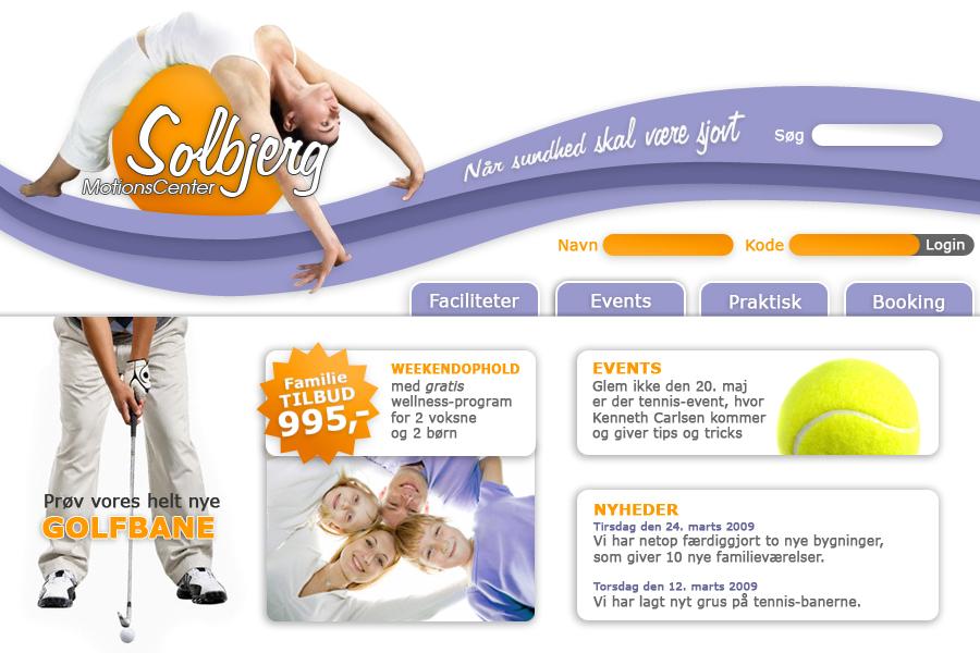 Solbjerg motionscenter webdesign UCN opgave