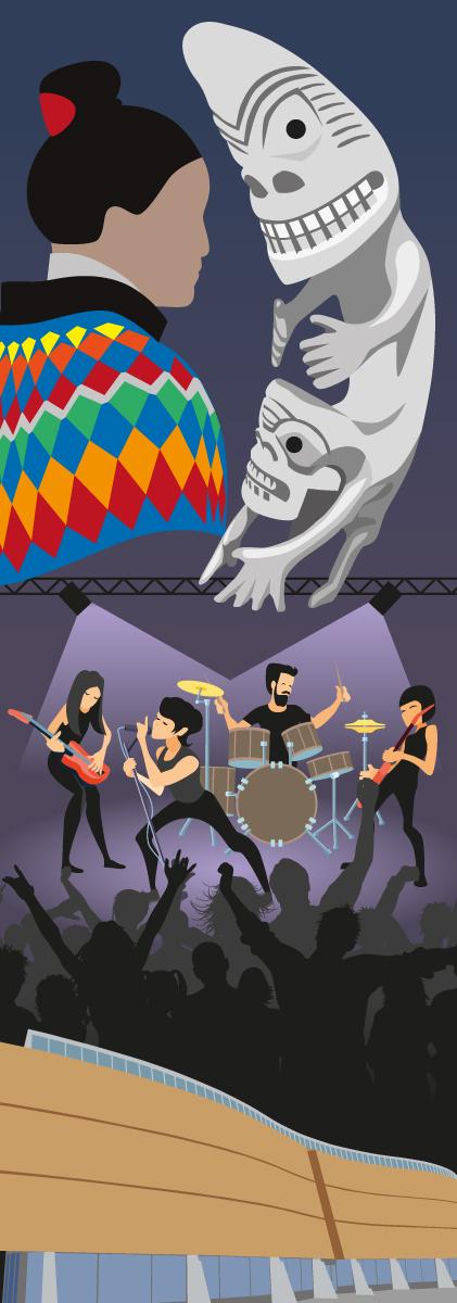 Kulukis dør-illustration kultur