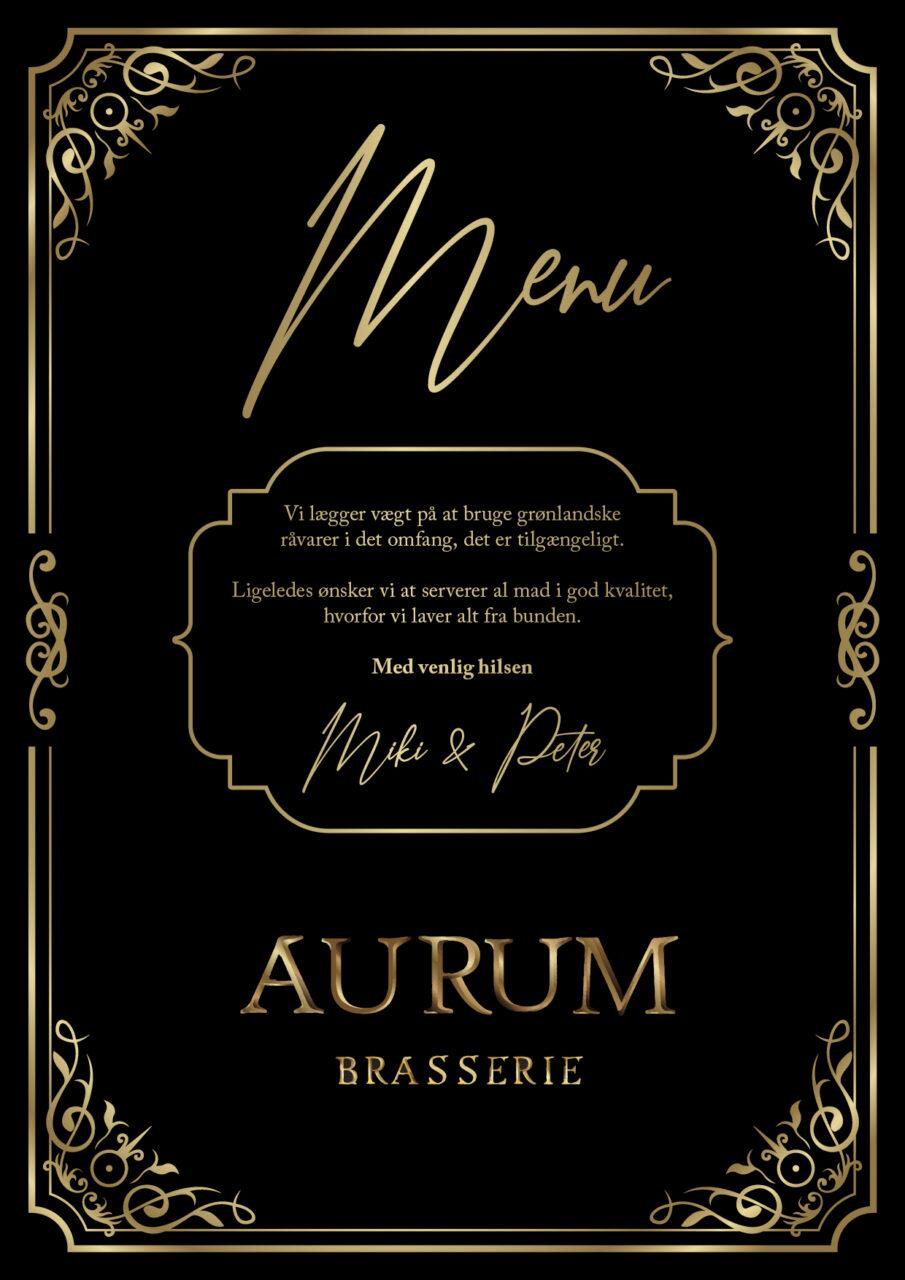 Aurum menukort