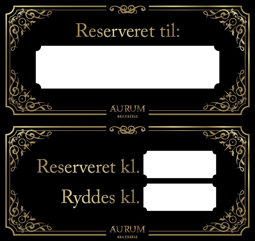 Aurum reservationsskilt