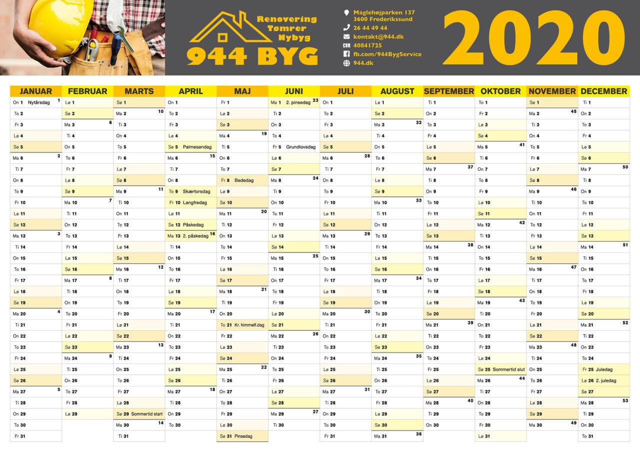 944 Byg kalender