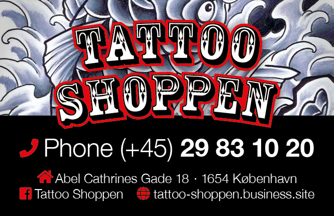 Tattoo Shoppen visitkort